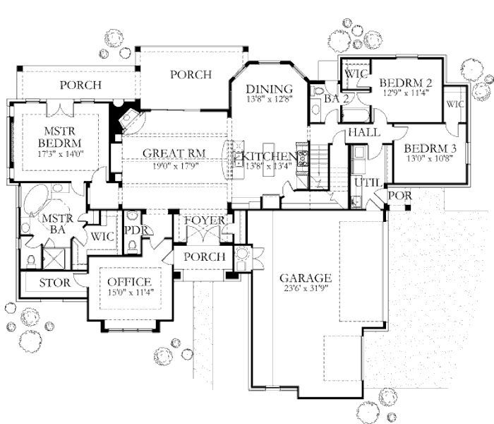 Mediterranean Style House Plan 4 Beds 3 5 Baths 3140 Sq Ft Plan 80 126 Tuscan House Plans House Plans Tuscan House