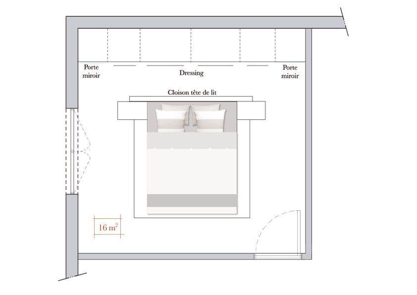 Conseils d 39 architecte comment am nager une chambre for Chambre 7m2 amenagement