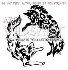 8fcd9c243 Yin Yang Aggressive Wolves Tribal Design by WildSpiritWolf.deviantart.com  on @deviantART