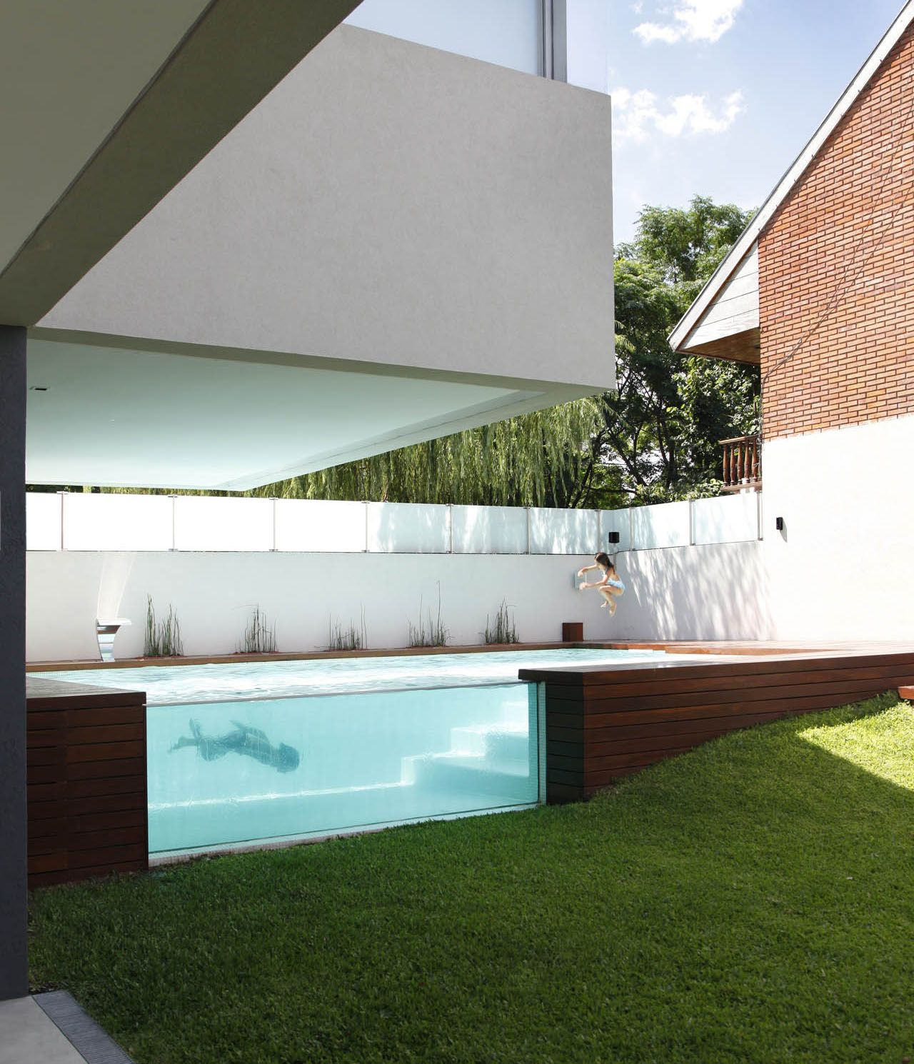 Swimming Pool Transparent Swimming Pool Wall Design Ideas How To