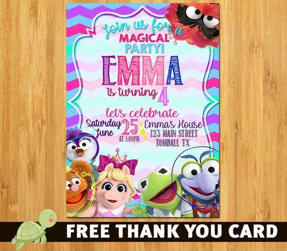 Muppet Babies Invitation
