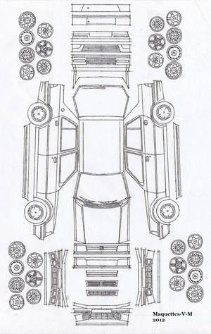Peugeot 309 / Talbot Arizona 5 portes maquette (by me