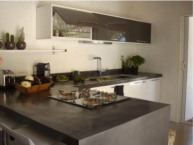 faire un plan de travail en béton ciré dans la cuisine | beton