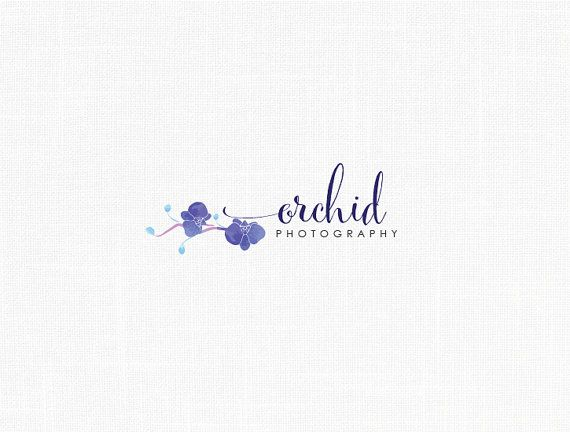 Blue Orchid Logo Design Floral Logo Design Photography Logo Boutique Logo Events Logo Design Floral Logo Design Flower Logo Design Floral Logo