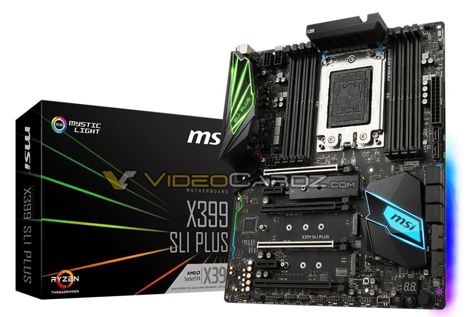 MSI X399 SLI PLUS ready for AMD Ryzen Threadripper CPUs