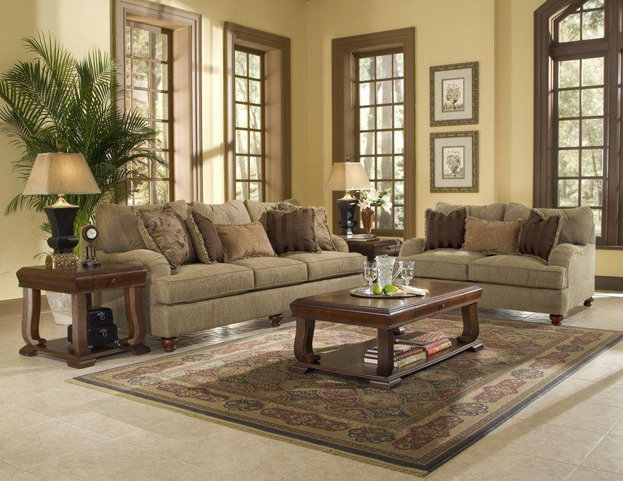 Klaussner Walker Sofa Set Home Living Room Sets 4 Piece