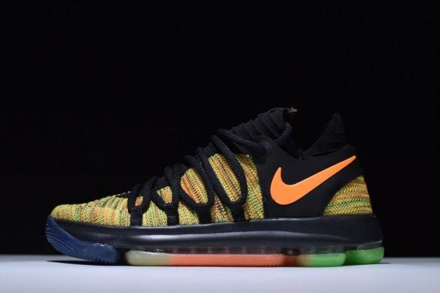 3d59034ca435 Nike Kevin Durant Zoom KD 10 Peach Jam EYBL Men s Basketball Shoes Sneakers
