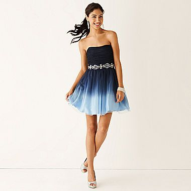 Buy Be Smart Sleeveless Embellished Waist Ombre Party Dress Today At