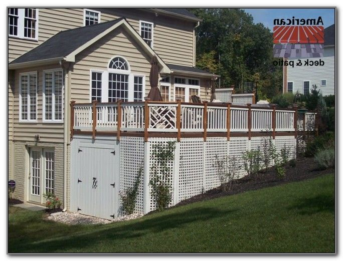 Under deck storage shed under deck storage shed decks Deck storage ideas