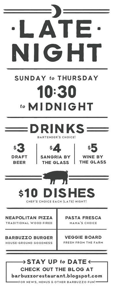 barbuzzo mediterranean kitchen \ bar u2022 Print Design Pinterest - beer menu