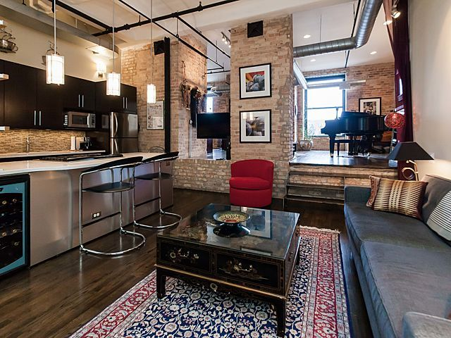 Chicago Apartments West Loop 1000 W Washington Blvd 404 Chicago Apartment Dining Room Fireplace Apartments For Rent