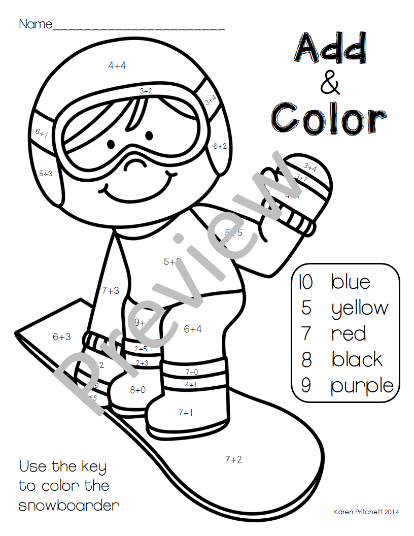 Add Color Up To 10 With This Free Coloring Page It Comes In A Set Of 3 Winter Sport Themed Pages Olympics Activities Winter Sports Preschool Winter Olympics