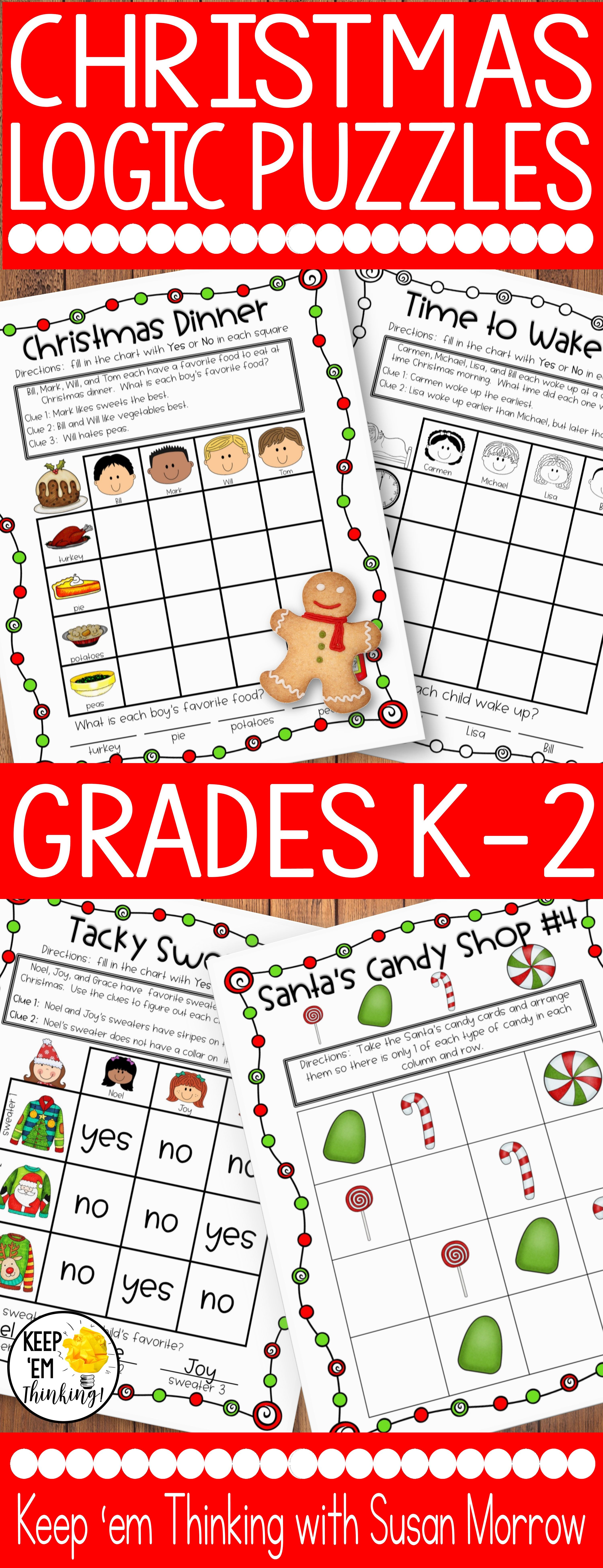 Christmas Logic Puzzles Gr 1 3 Beginning Logic Puzzles