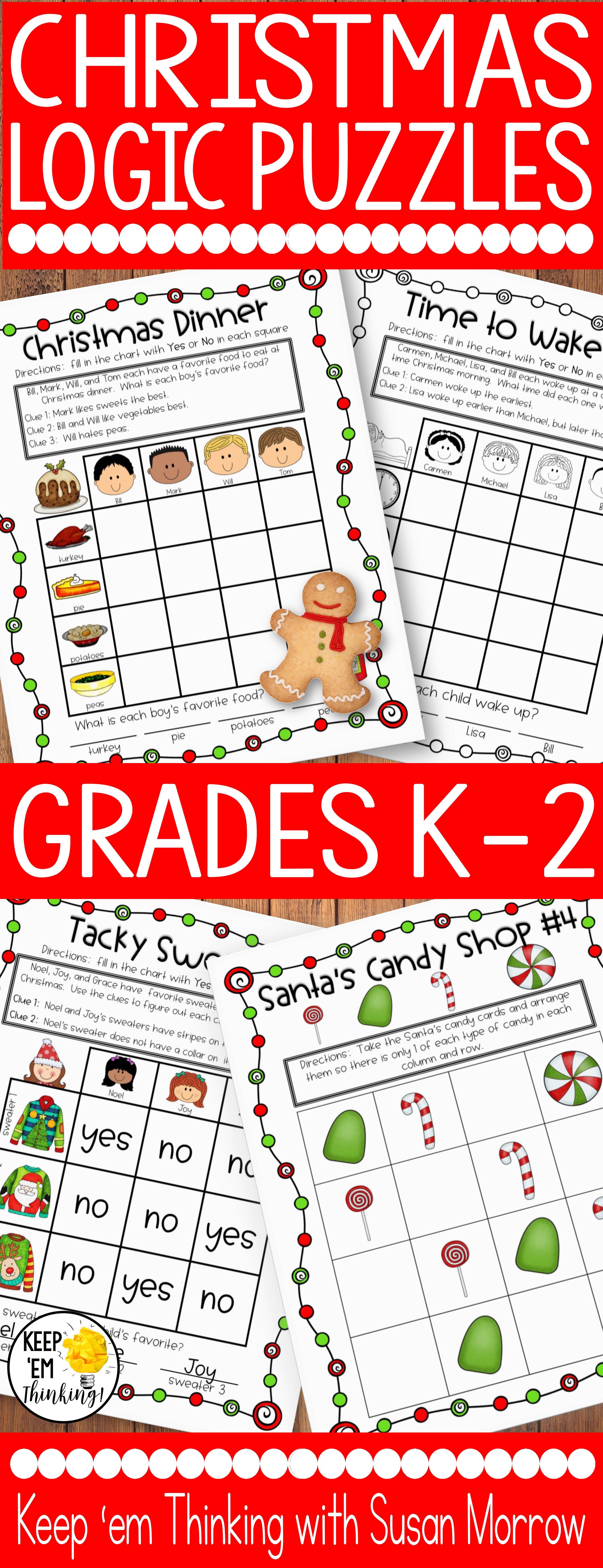 medium resolution of These Christmas Theme logic puzzles