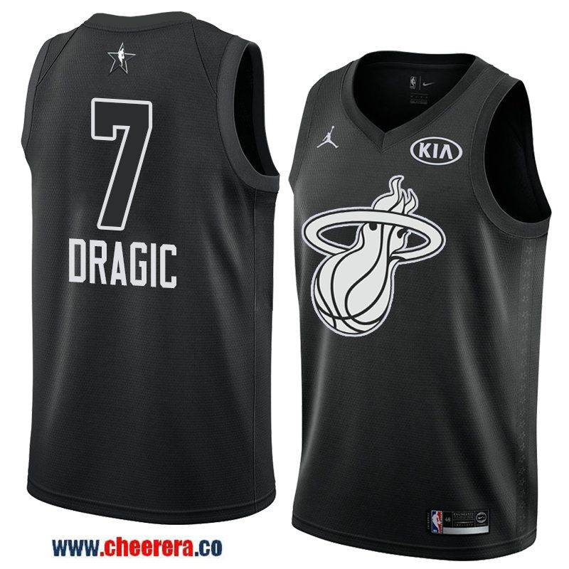 80ad128c871 men s game swingman miami heat  7 goran dragic black 2018 nba all-star  jersey