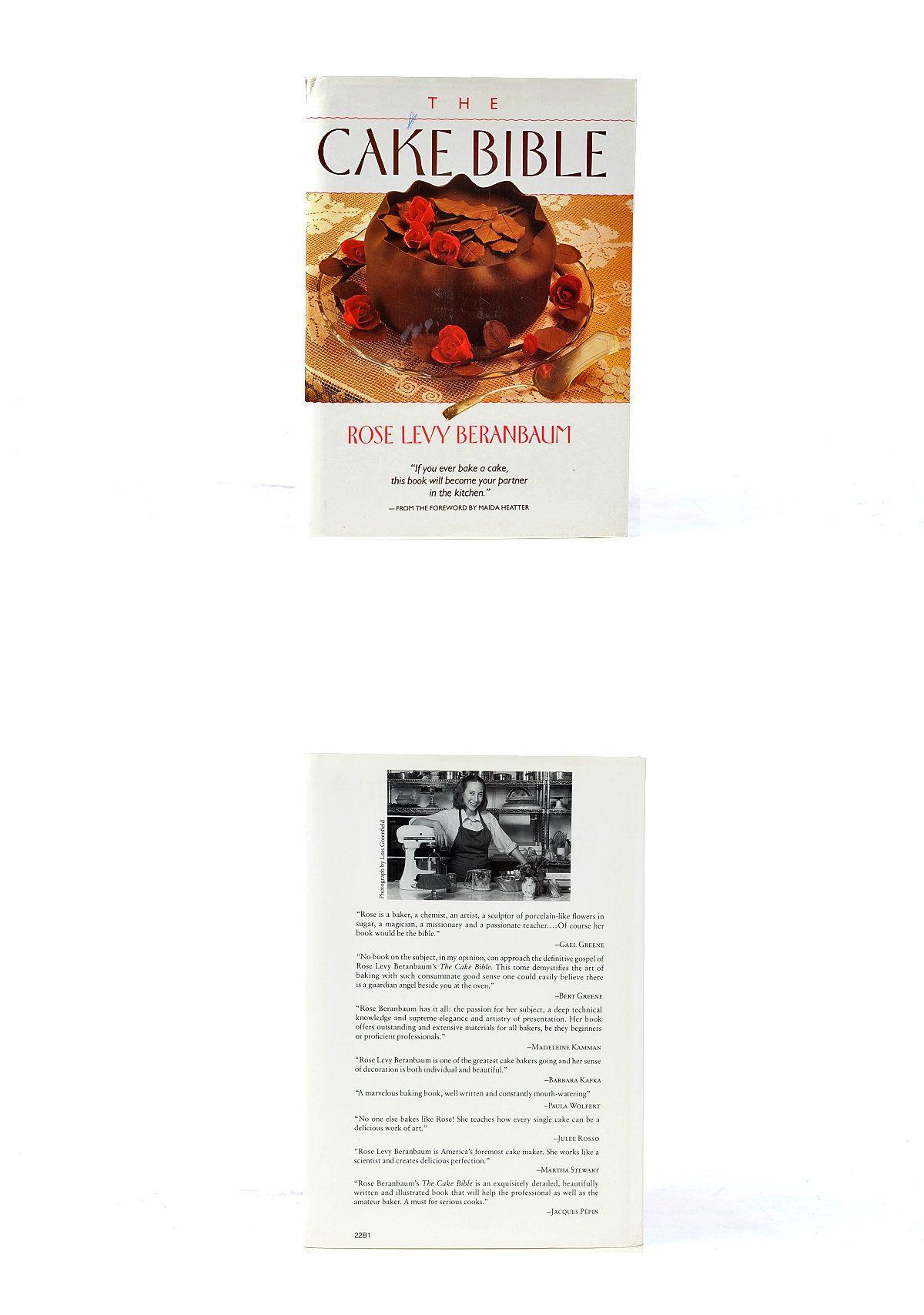 Cookbook 1988 cake bible rose levy beranbaum dessert cook