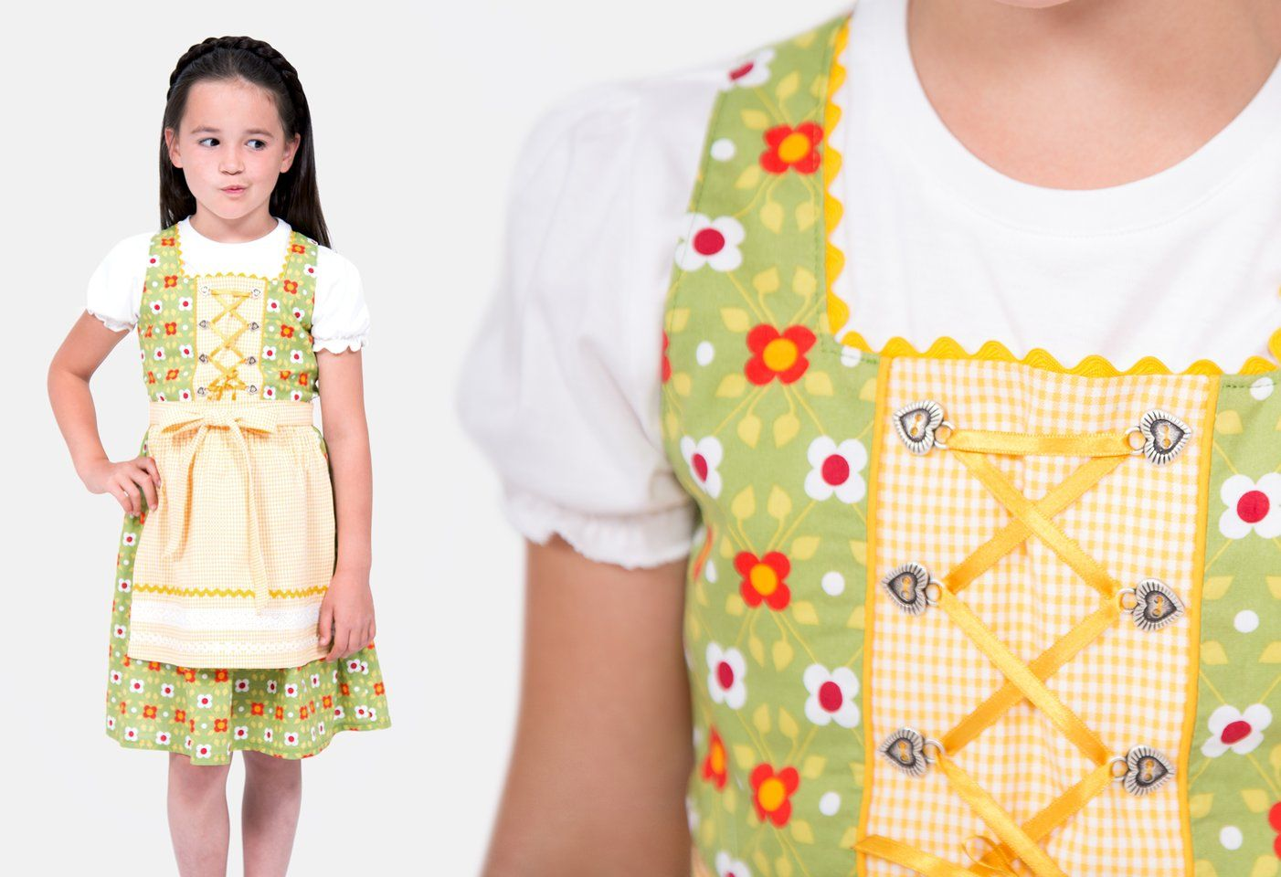 5eaa6c4e5a Schnittmuster Kinderkleid Leni als Dirndl genäht | Nähen | Apron und ...