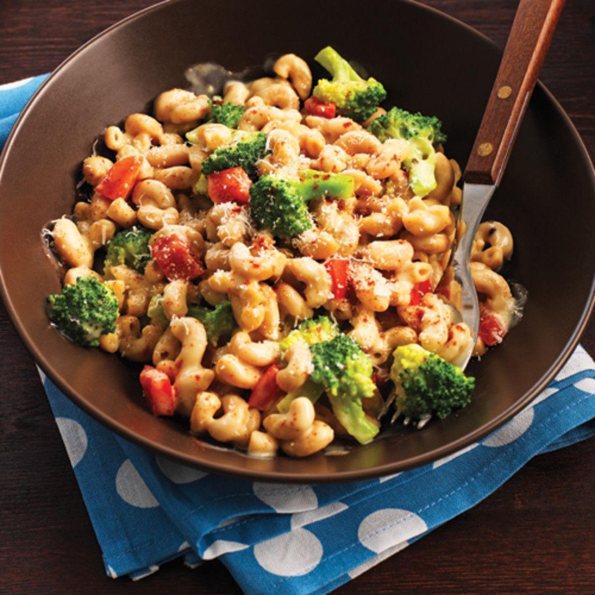 clean eating broccoli and white bean mac n cheese