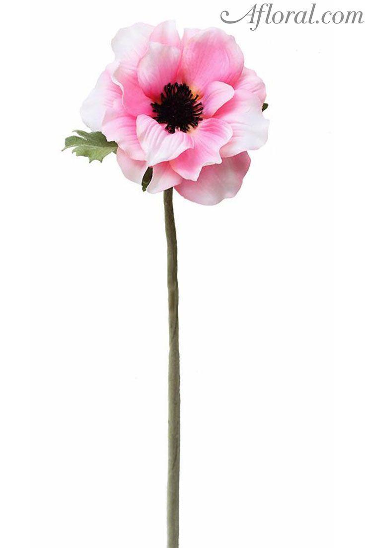 Silk Anemone In Pink 155 Pastel Bouquet Vase Arrangements And