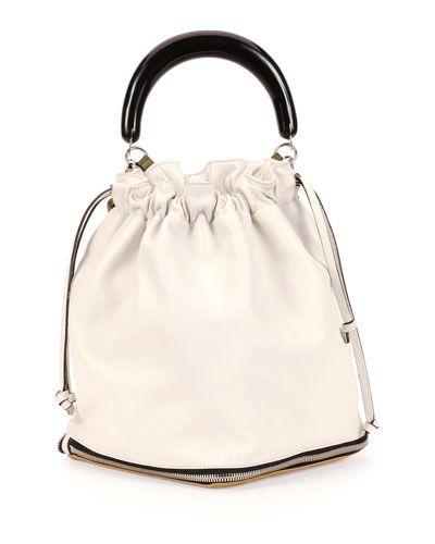 V2FHA Marni Large Expandable Zip Satchel Bag