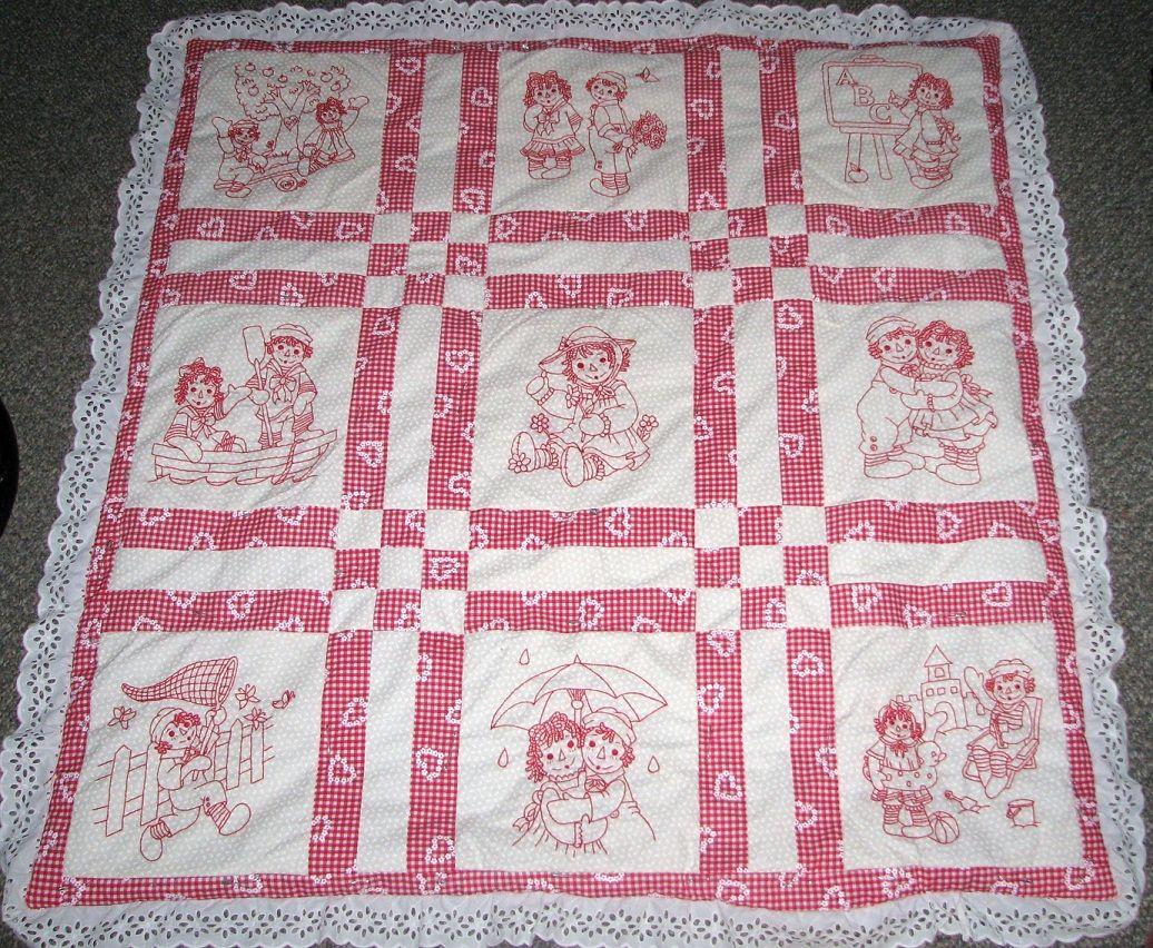 Raggedy Ann Redwork Quilt | Quilted Corner | Pinterest | Raggedy ann : raggedy ann quilt pattern - Adamdwight.com