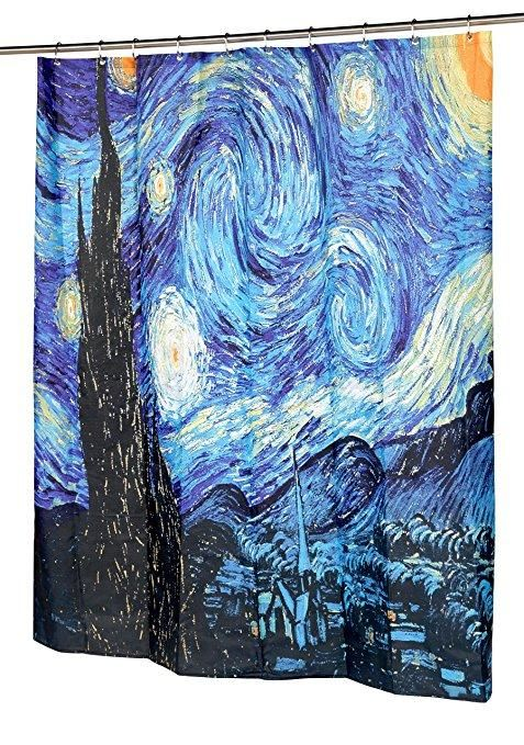 Van Gogh The Starry Night Shower Curtains Famous Paintings Curtain