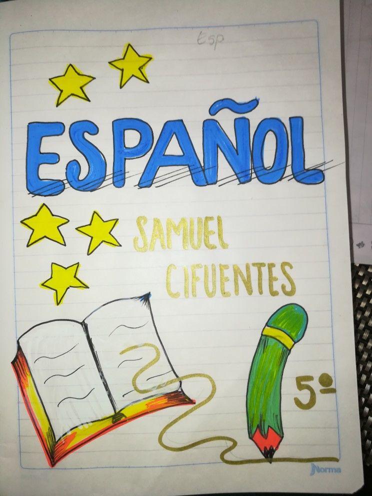 Pin de Shipagua Barcena en portadas | Portada de cuaderno de ...