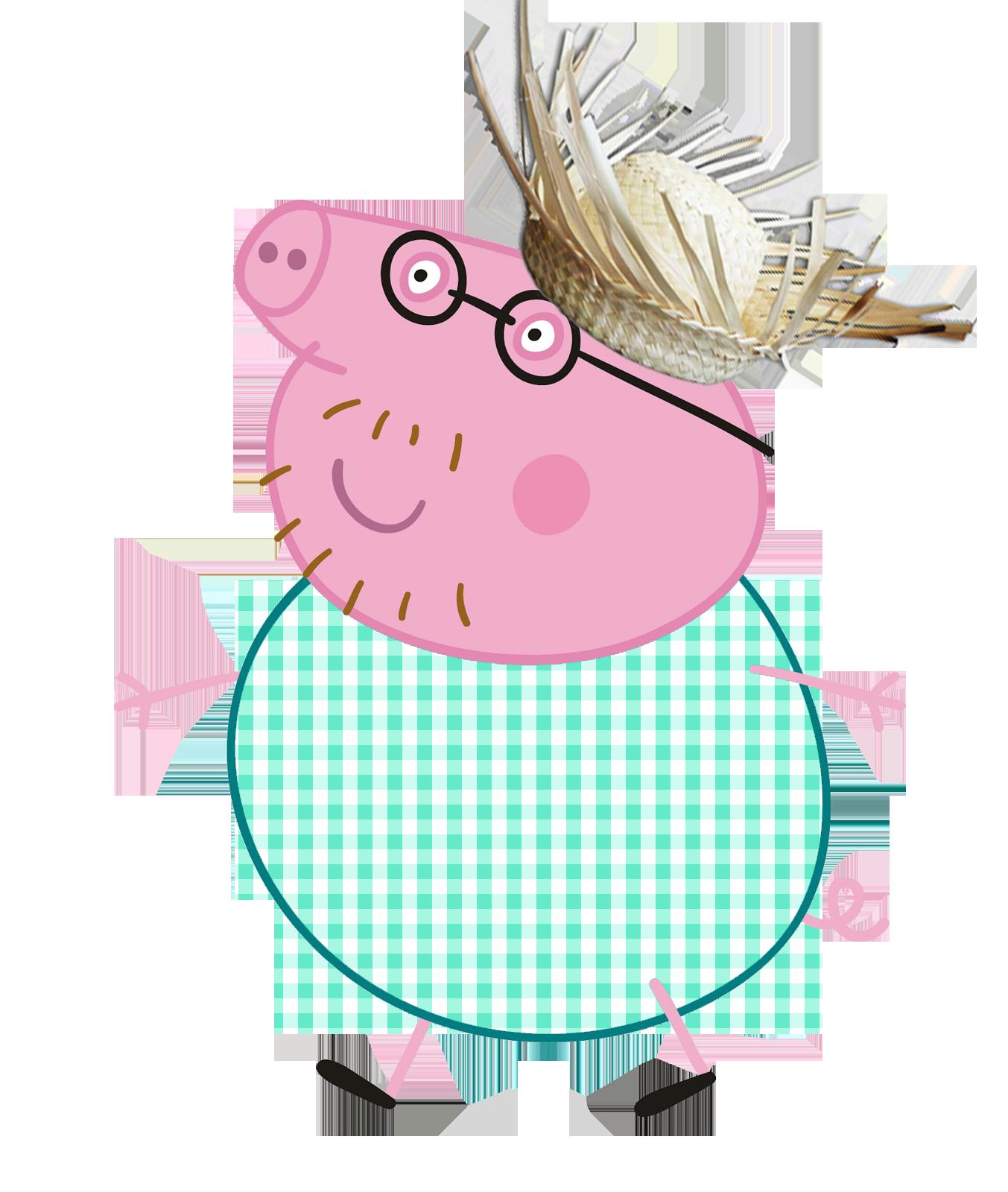 Família da Peppa: Peppa Pig, George, Mamãe Pig e Papai Pig de Pelúcia ...