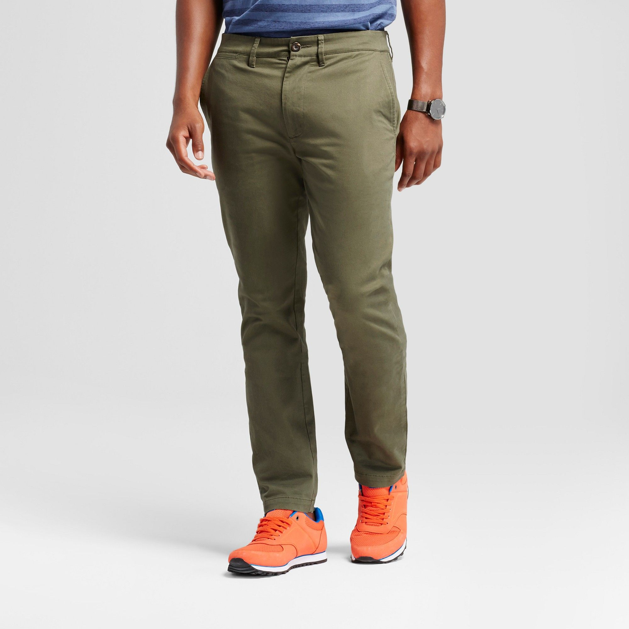 44a806f88426 Men's Athletic Fit Hennepin Chino Pants - Goodfellow & Co Olive 32x32, Green