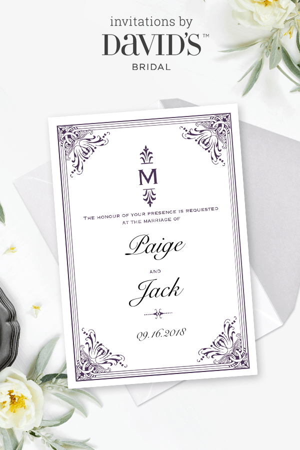 Design Tailored To You Wedding Invitations At Davids Bridal