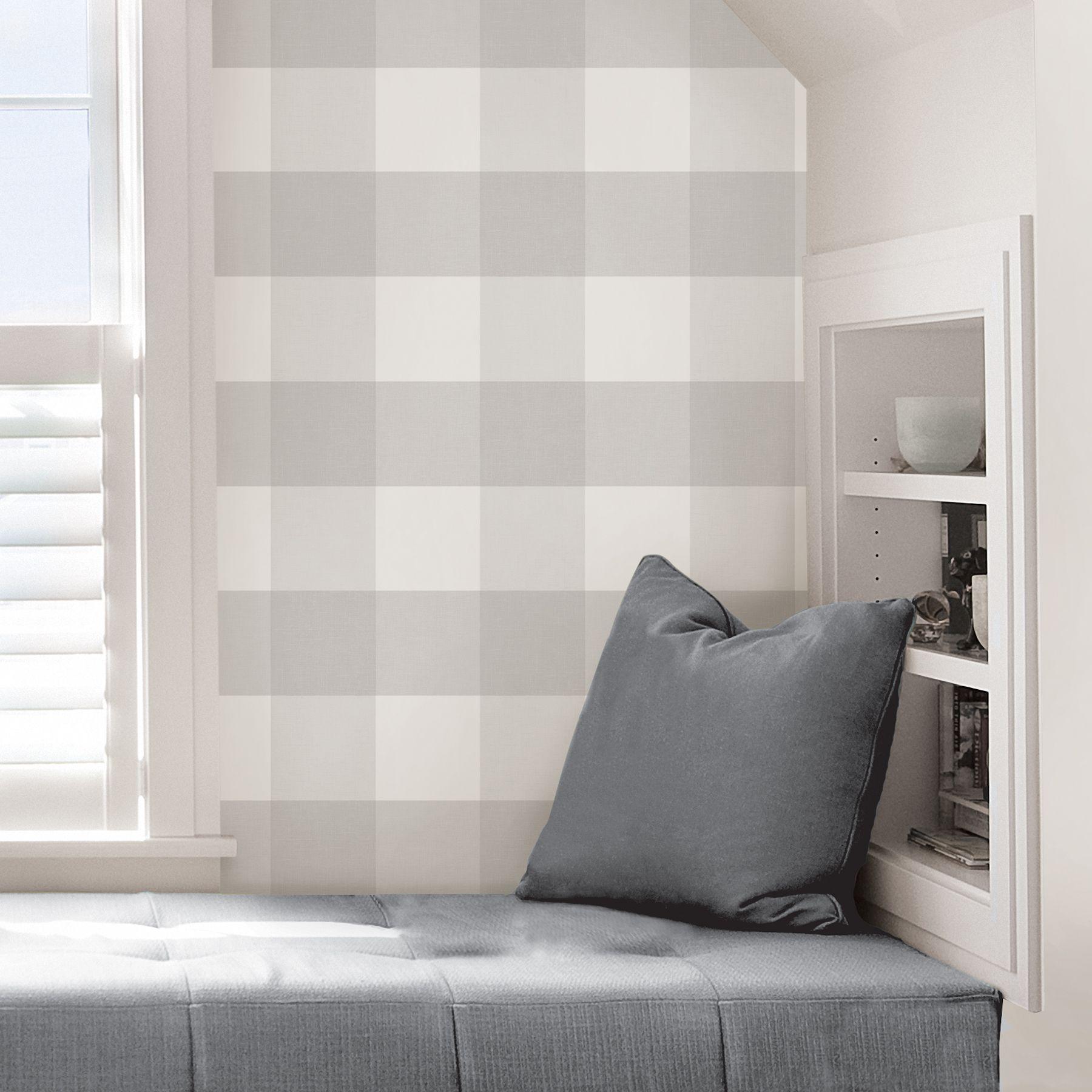 NuWallpaper by Brewster Home Fashions Plaid wallpaper