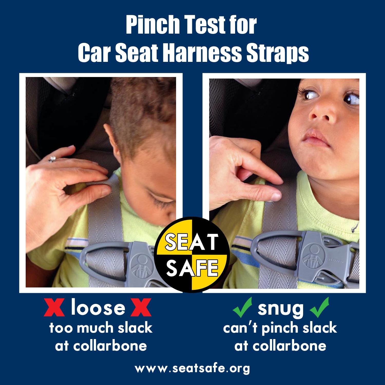 car seat safety pinch test general best practice tips. Black Bedroom Furniture Sets. Home Design Ideas