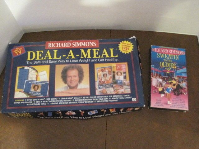 Richard Simmons Deal A Meal Weight Loss Program Vhs Video Menu Cards