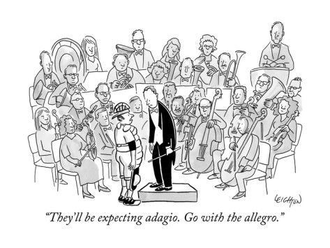 A Baseball Catcher Speaks To An Orchestra By Robert Leighton Orchestra Humor New Yorker Cartoons Music Cartoon
