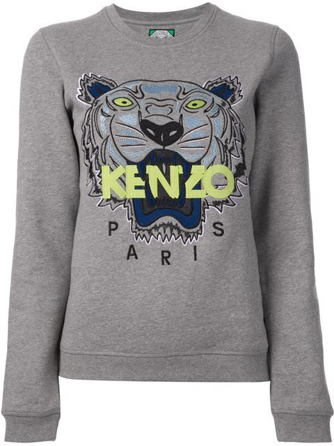 d4415f0bd Shop Kenzo jungle logo sweatshirt in Pearl from the world's best ...