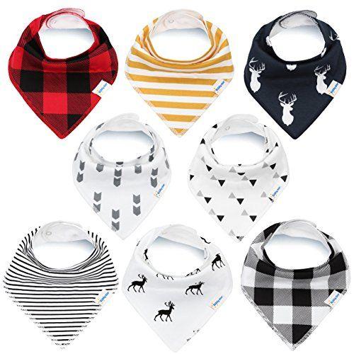 6 x Cotton Bandana Baby Bibs Feeding Saliva Drool Absorbent False Collar Fashion