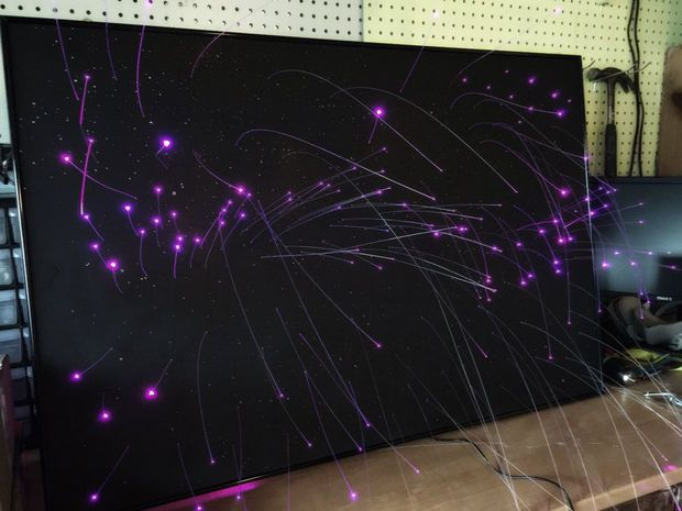Fiber Optic Star Ceiling Panel With Day Time Stars Star