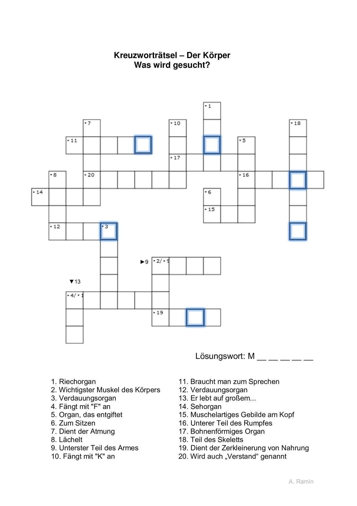 Hilfe Kreuzworträtsel Online