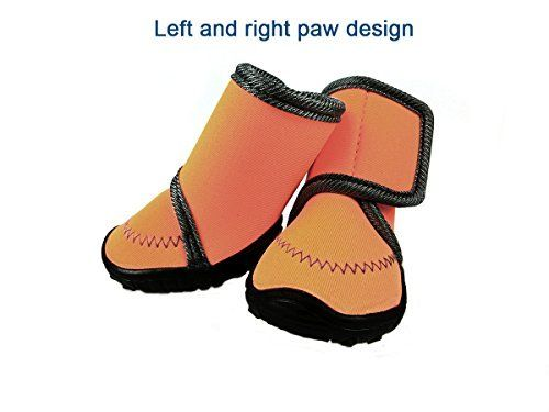65132b12b024 Xanday Dog Boots Waterproof Dog Shoes Paw Protectors with Adjustable Straps  and Wear-resisting Soles