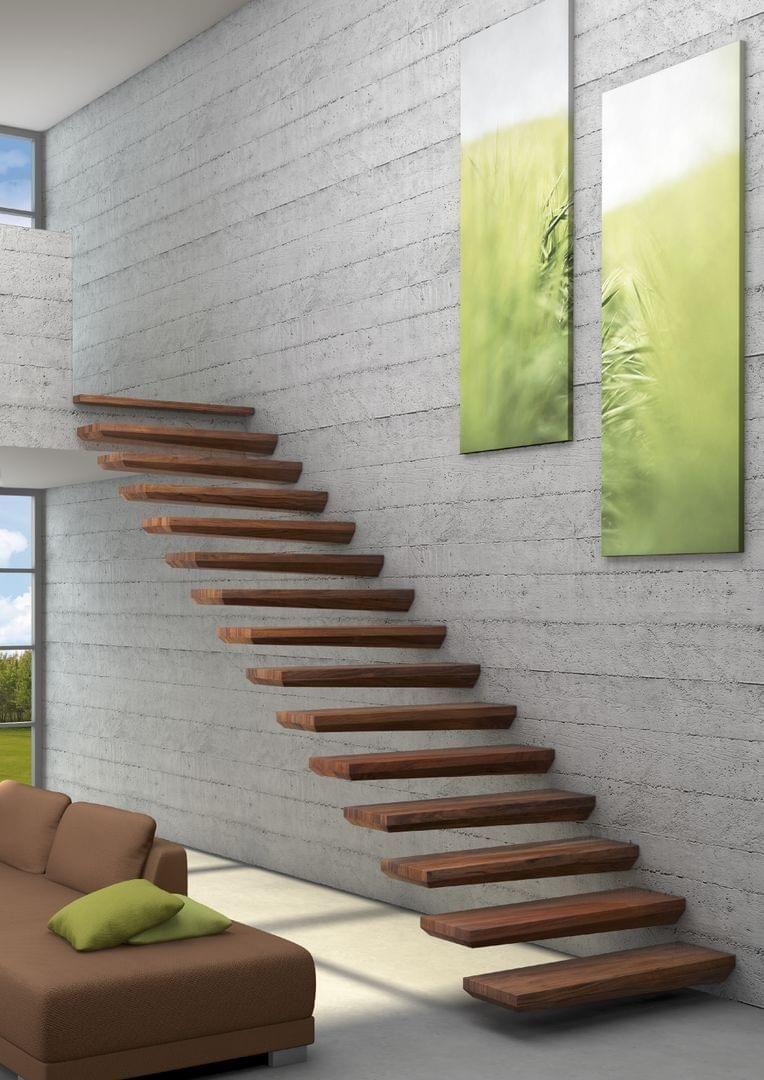 Gartenzimmer leuchtet holztreppe ego gerade kragarmtreppe  treppen in   pinterest