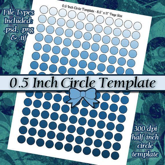 05 Inch Circles DIY DIGITAL Collage Sheet by JeweledLizard (Craft