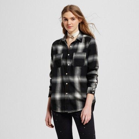 84bbb2725c59e3 Mossimo Supply Co. Women's Flannel Boyfriend Shirt - Mossimo Supply Co.