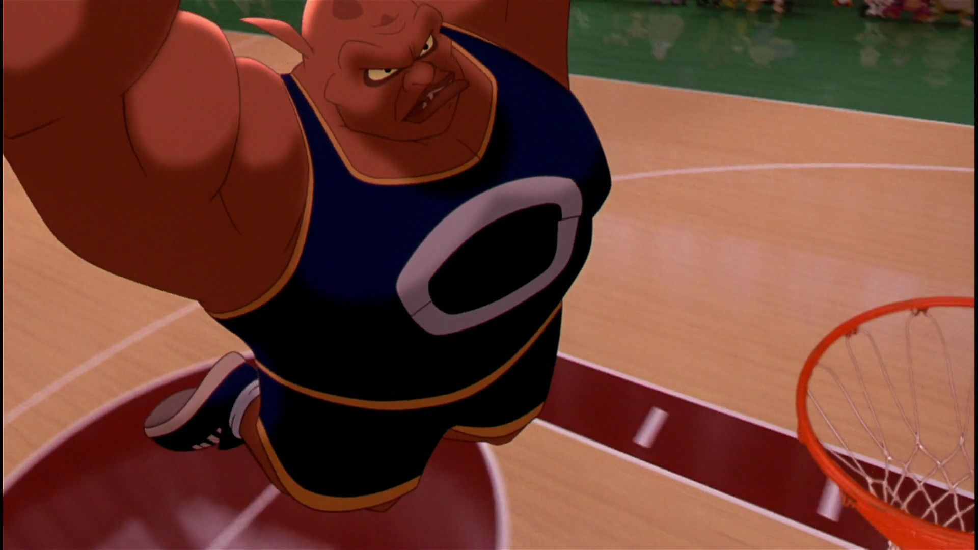 Pound about to slam dunk. | Space jam, Favorite character, Favorite movies