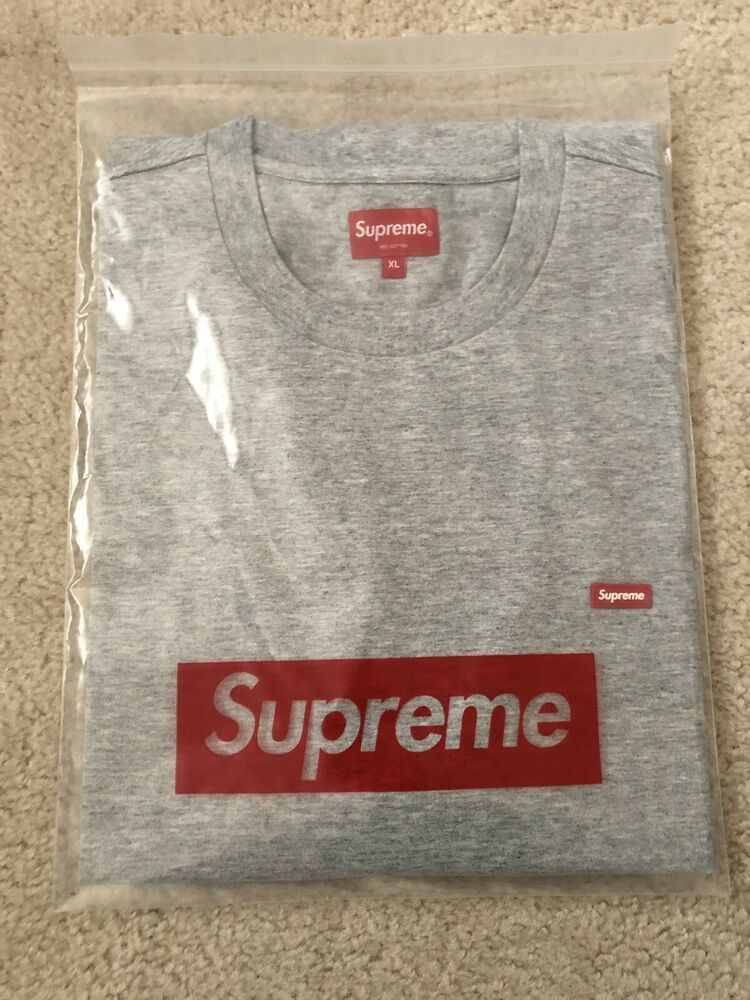 738f7013d5e1 Supreme Heather Gray Small Box Logo Tee XL SS19 #fashion #clothing #shoes #