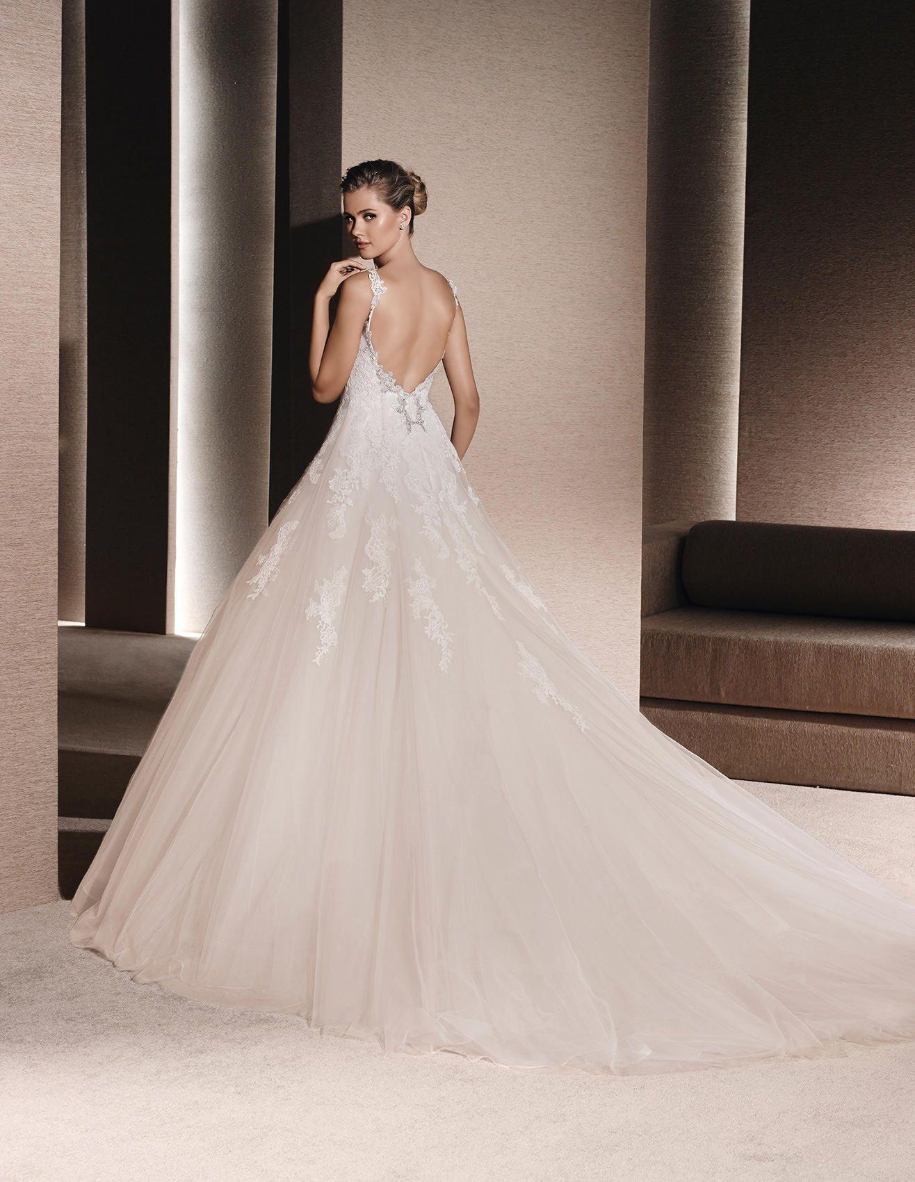RICARDA - Brautkleid mit Spitze und Schmucksteinbesatz | La Sposa ...