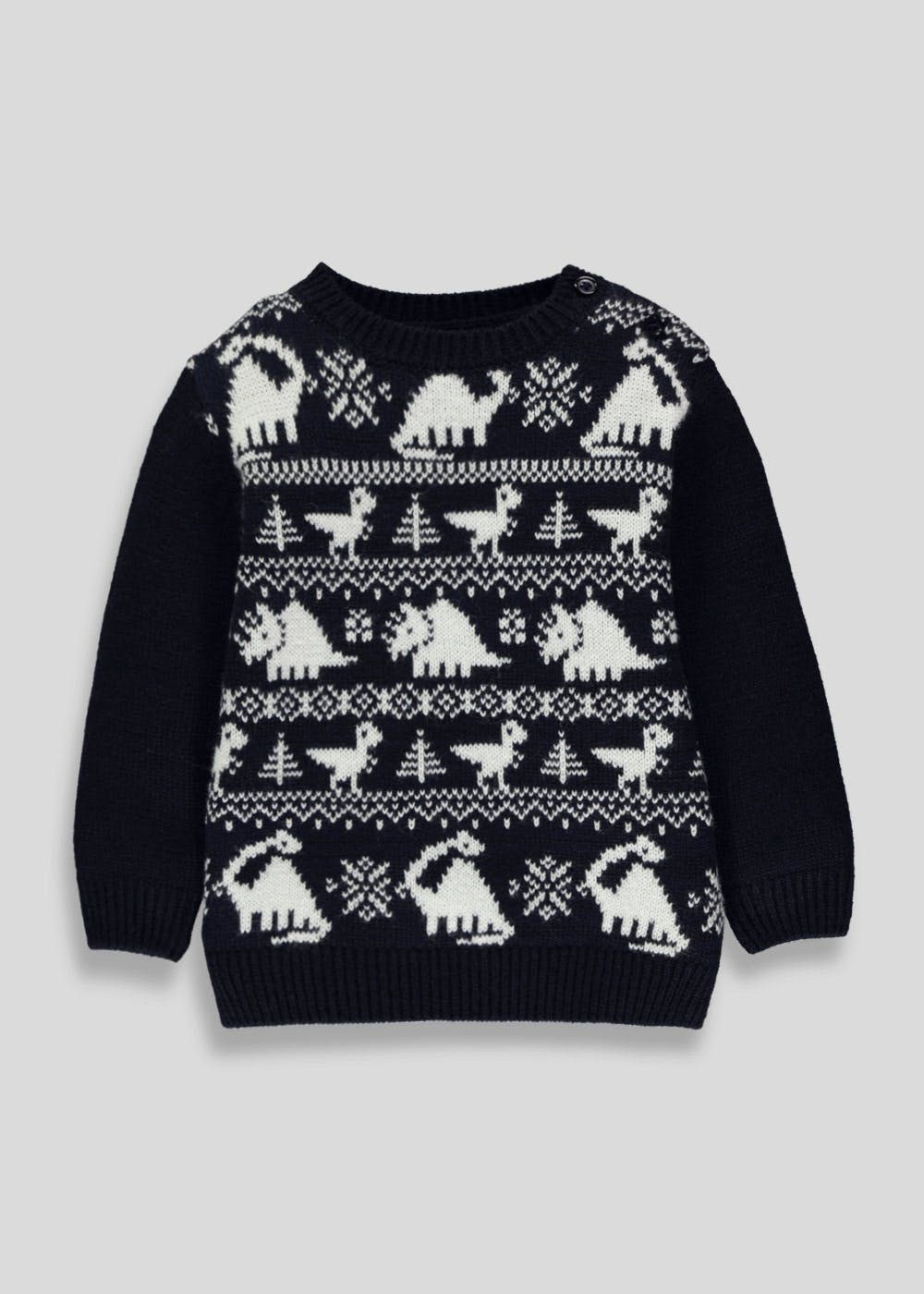 19bb40ece464 Kids Dinosaur Christmas Jumper (3mths-5yrs)