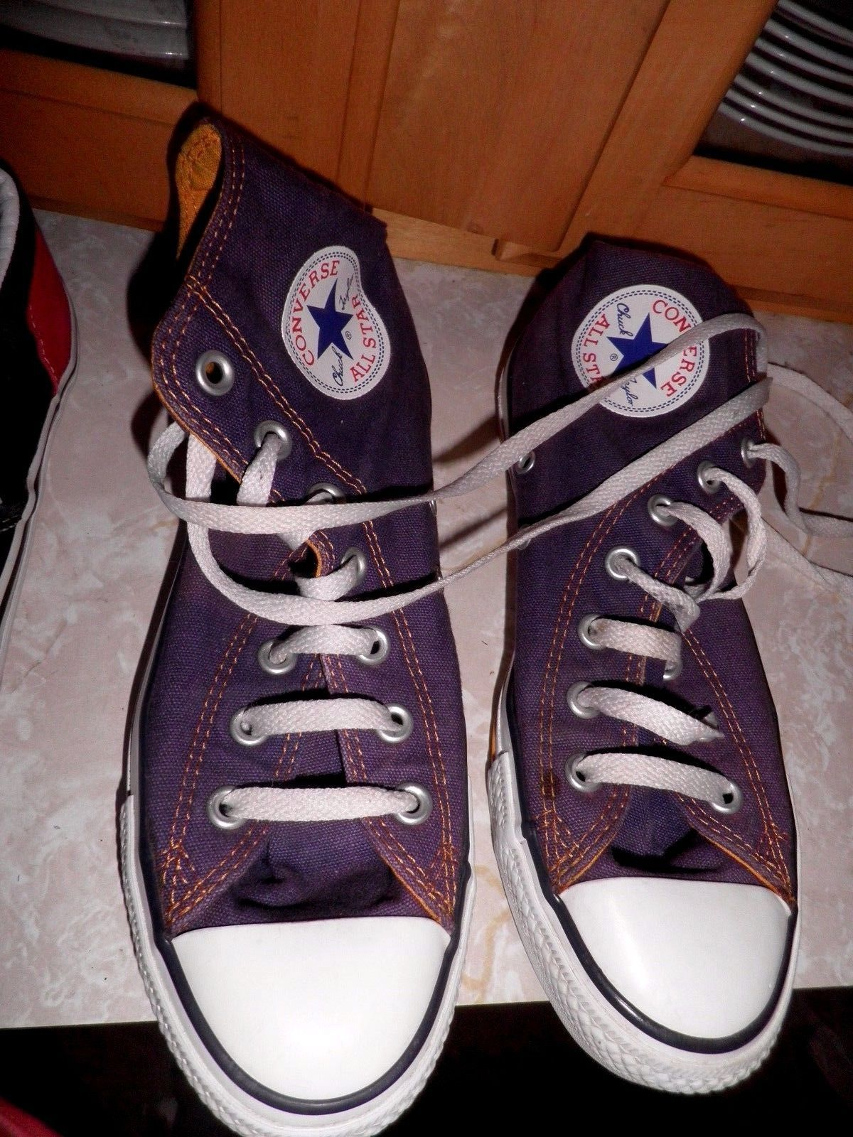 5688c7f0829a Lakers Colors Unisex Converse All Star High Tops M 5 w 7