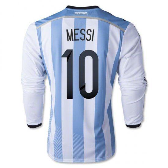 f5dc84ffe8b ... Sale Soccer Jerseys 20142015 Argentina Home Long Sleeve World Cup (10  Messi) Pablo Zabaleta 4 2015 ...