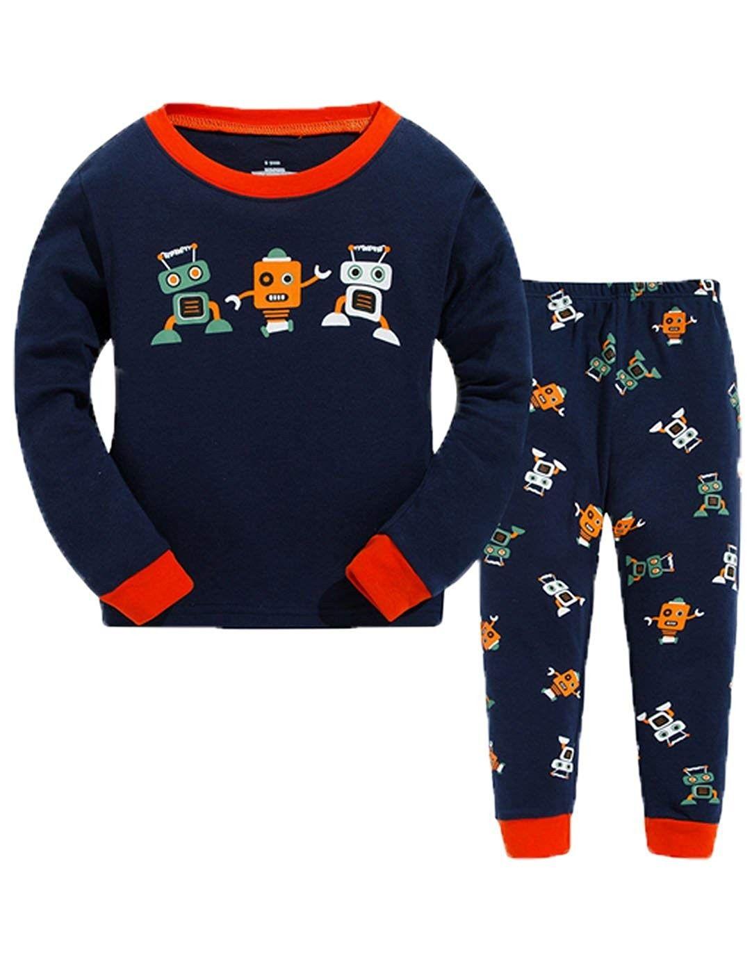 Robot Little Boy Pajamas Sets Boys Sleepwear Children Clothing - Blue -  C9185Z58AG0 | Boys sleepwear, Kids sleepwear, Boys nightwear