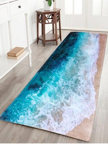 Get 50 Now Join Rosegal Get Your 50 Now Https M Rosegal Com Carpets Amp Rugs Sea Beach Print Flannel Skidproof 1085406 Home Home Decor Beach House Decor